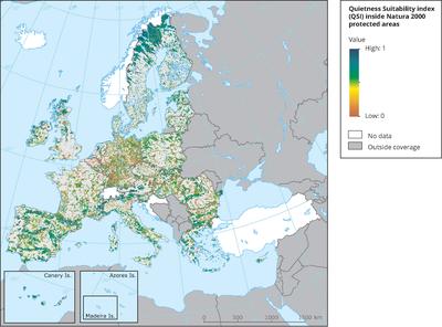 Quietness Suitability Index (QSI) and Natura 2000