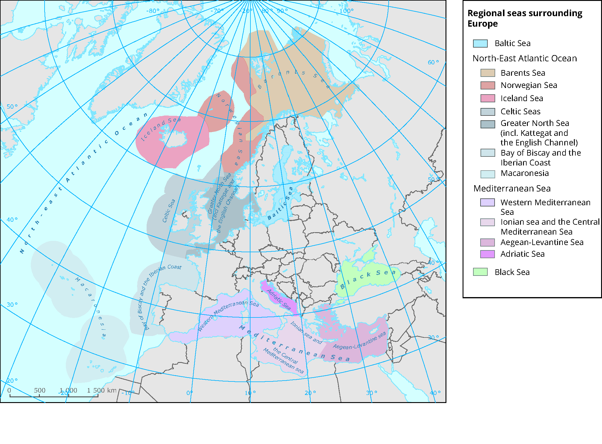 Regional seas surrounding Europe — European Environment Agency