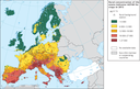 Rural concentration of the ozone indicator AOT40 for crops in 2013