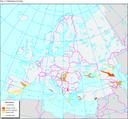 Salinisation in Europe, 1993