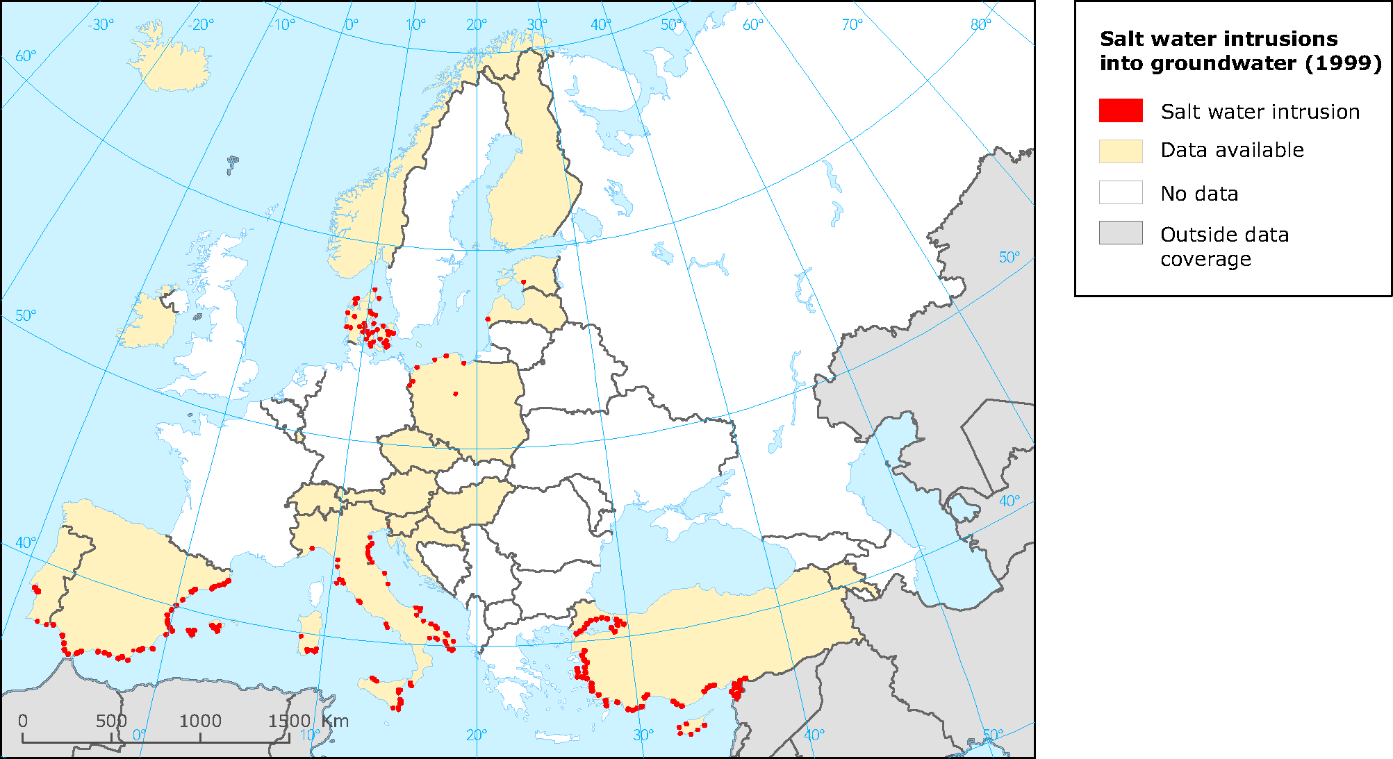 European Environment Agencys Home Page European Environment Agency - Saltwater intrusion map us