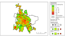 Soil sealing and population density in the capitals of EEA countries and the Western Balkans
