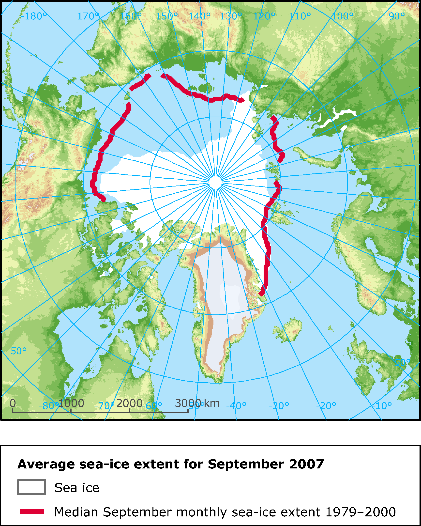 The 2007 minimum sea-ice extent