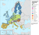 The EU Natura2000 network of designated areas (both SPAs and SCIs) across biogeographic regions