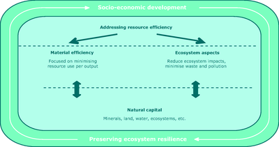 The two key aspects of resource efficiency