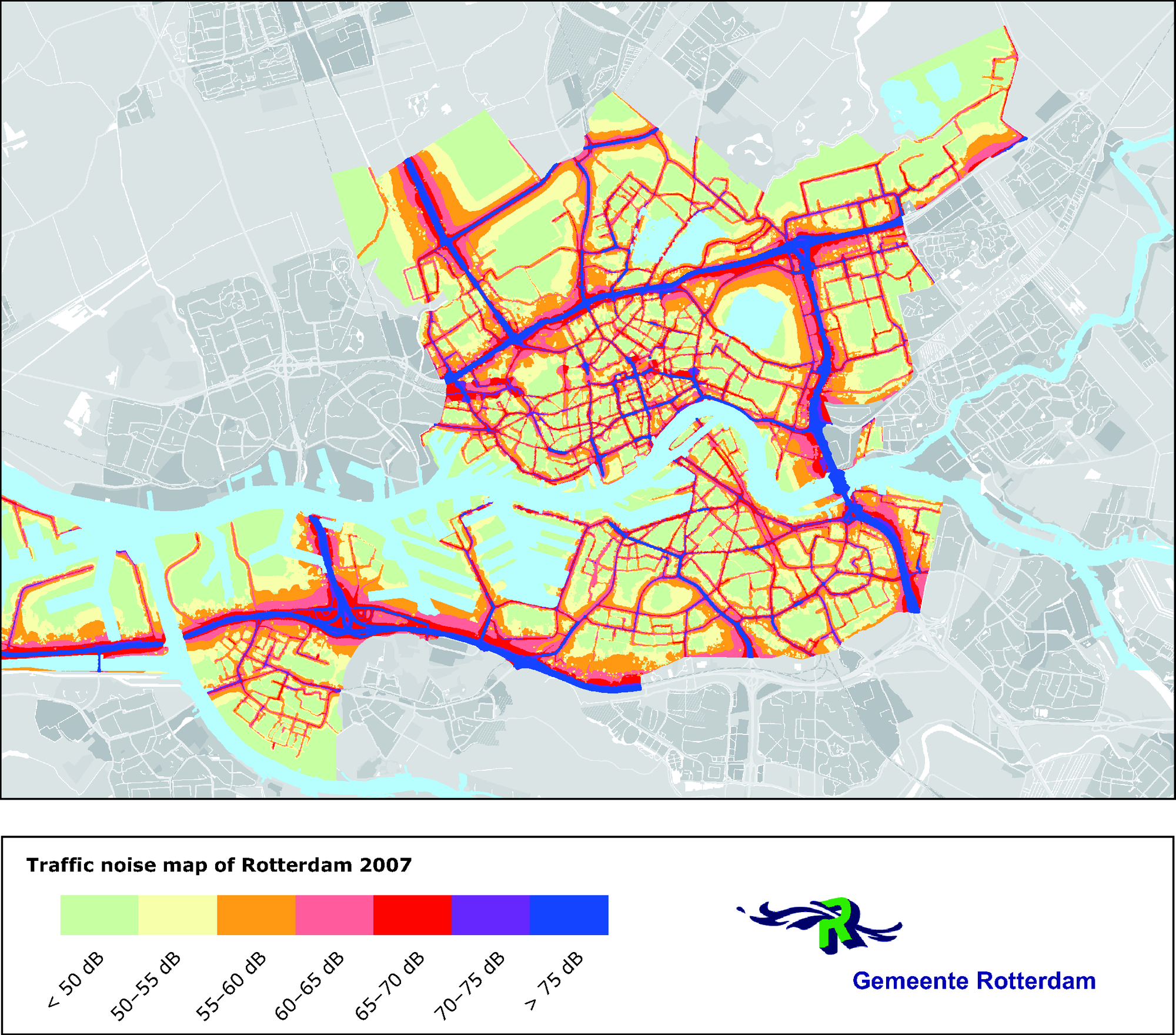 Traffic noise map of Rotterdam, the Netherlands — European ...