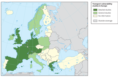 Transport vulnerability studies in EEA countries