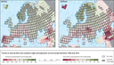 Trends in annual and summer precipitation across Europe between 1960 and 2015
