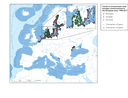 Trends in annual mean total nitrogen concentrations in European seas