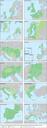Twelve of fifteen European transnational regions, as defined by the current Interreg V B programme