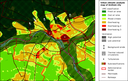 Urban climate analysis map for the city of Arnhem, the Netherlands