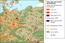 Urban sprawl in Germany, Poland and Czech Republic (1990-2000)