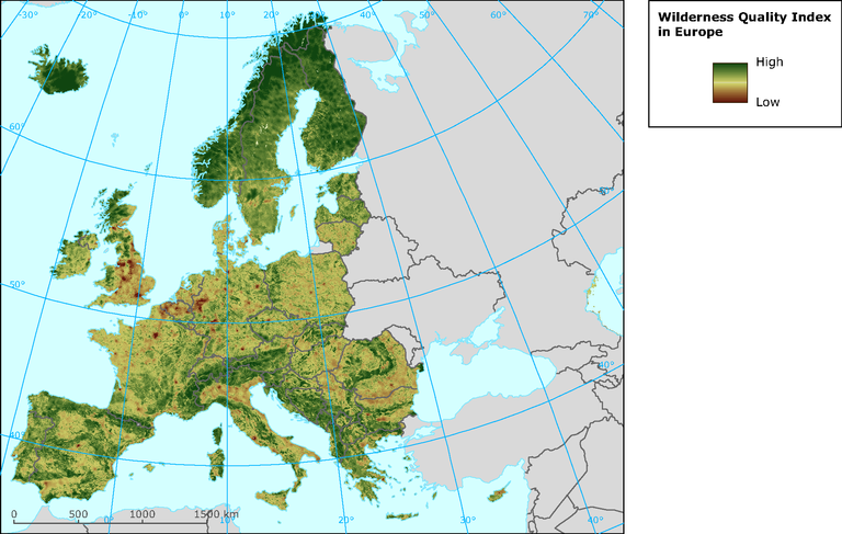 http://www.eea.europa.eu/data-and-maps/figures/wilderness-quality-index/wilderness-quality-index-in-europe/image_large