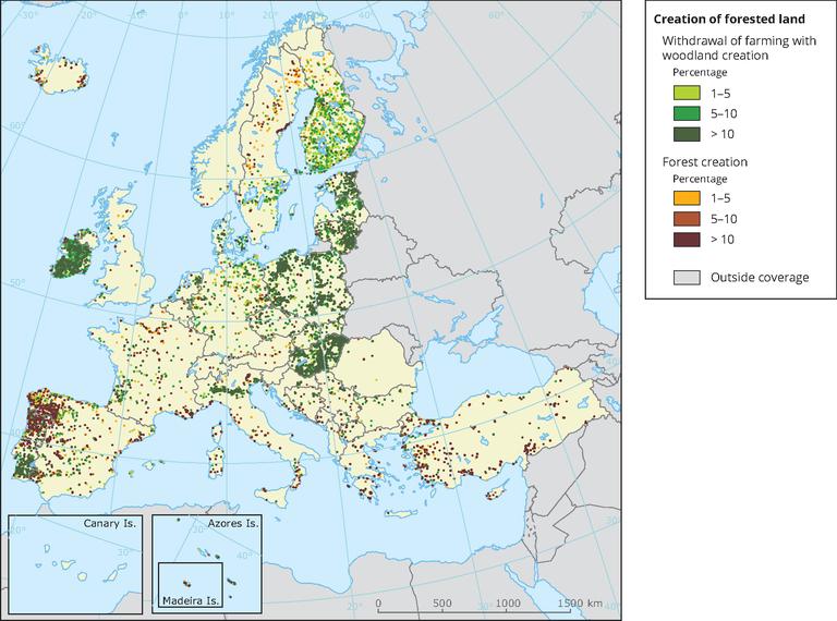 Woodland creation — European Environment Agency on