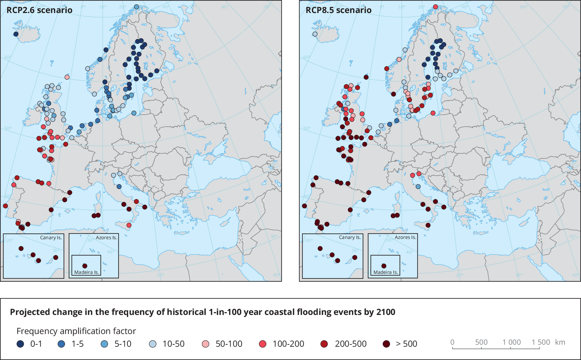 Global and European sea-level rise — European Environment Agency on