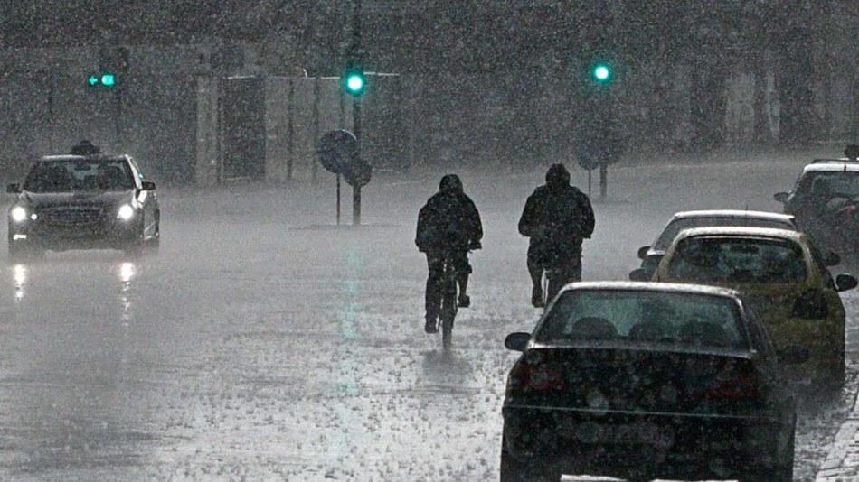 Rain in Copenhagen, July 2011
