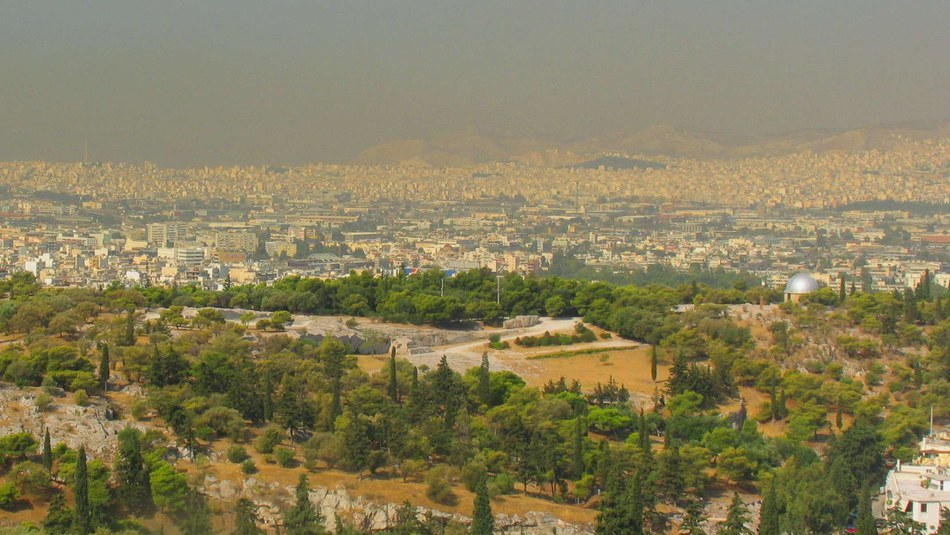 Smog in Athen