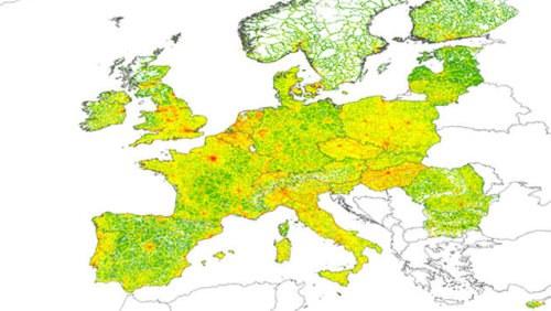 Karte Von Europa.Umwelt Neue Karten Zeigen Europaern Luftverschmutzung Aus