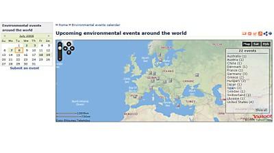Kalender mit Umweltveranstaltungen