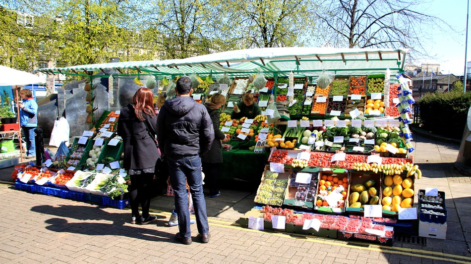 Street market in Edinburgh