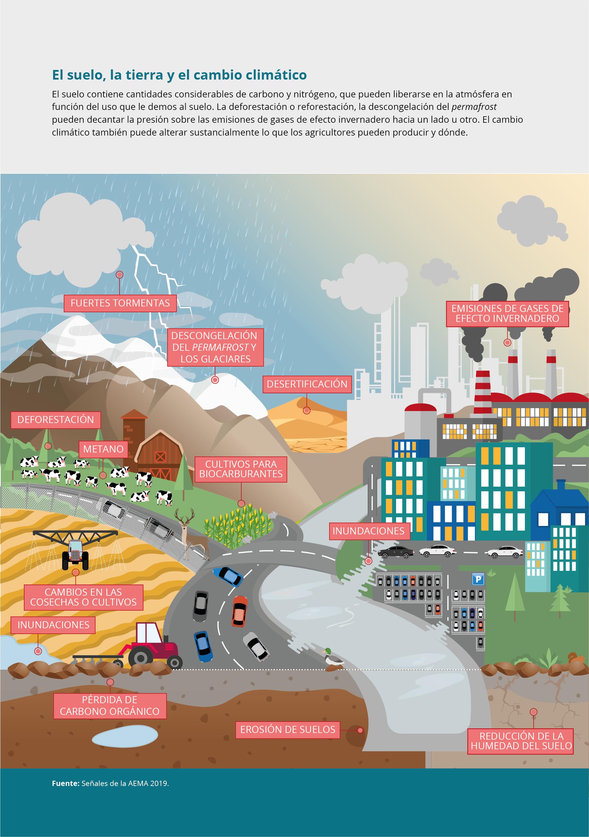 El suelo, la tierra y el cambio climático