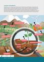 Maaperällä on suuri merkitys luonnon kierroissa, myös ravinnekierrossa, ja tähän liittyy se, miten paljon maan orgaanista ainesta – esimerkiksi hiiltä, typpeä ja fosforia – kertyy ja varastoituu maaperään. Maaperässä elävät organismit hajottavat orgaaniset yhdisteet, kuten lehdet ja juurten kärjet, yksinkertaisemmiksi yhdisteiksi ennen kuin kasvit voivat hyödyntää niitä. Jotkin maabakteerit muuttavat ilmakehän typen mineraalitypeksi, joka on välttämätöntä kasvien kasvamiselle. Lannoitteissa on typpeä ja fosforia kasvien kasvun edistämiseksi, mutta kasvit eivät ime koko määrää. Ylijäämä voi kulkeutua jokiin ja järviin ja vaikuttaa elämään näissä vesiekosysteemeissä.