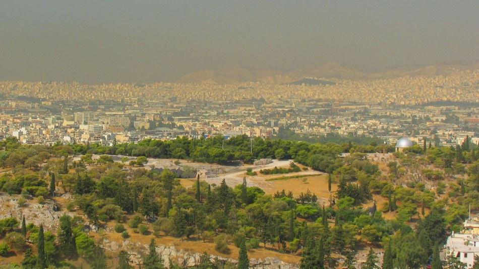 Le smog à Athènes