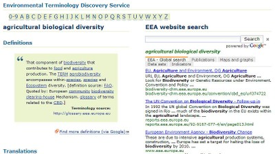 Service de terminologie environnementale/Environmental Terminology and Discovery Service (ETDS)
