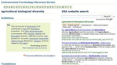Service de terminologie environnementale/Environmental Terminology and Discovery Service (ETDS)