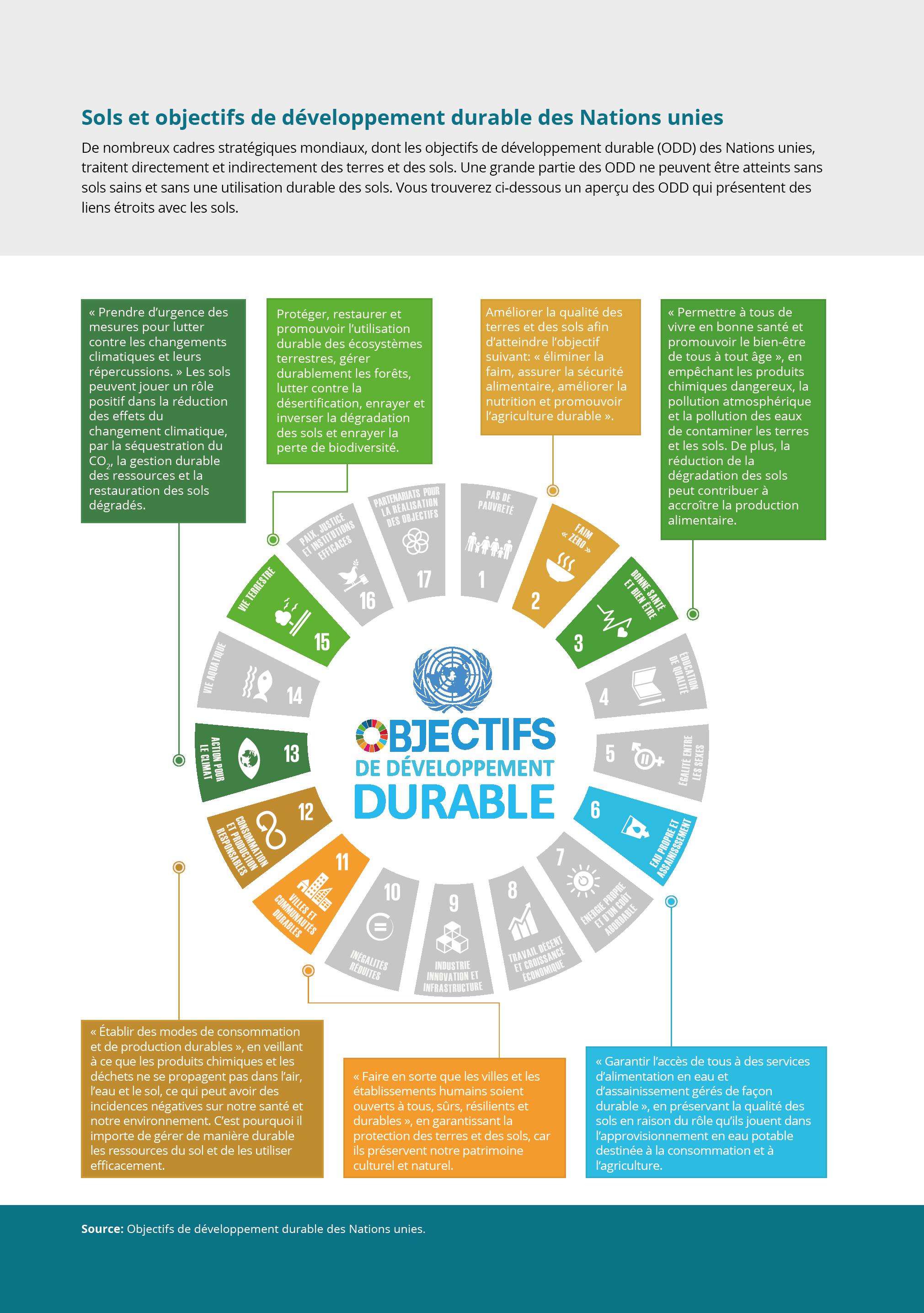 Sols et objectifs de développement durable des Nations unies