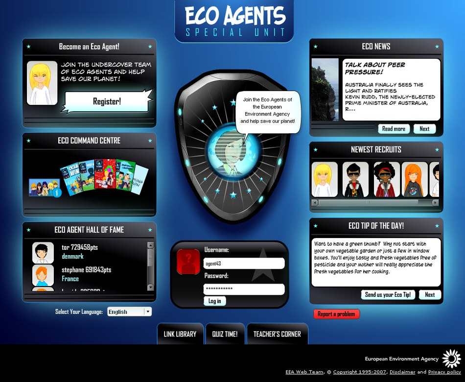 Eco Agents website