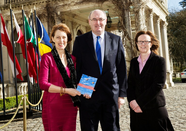 JMC, Phil Hogan, Irish Minister for Environment; Laura Burke, Director General of the Irish EPA.