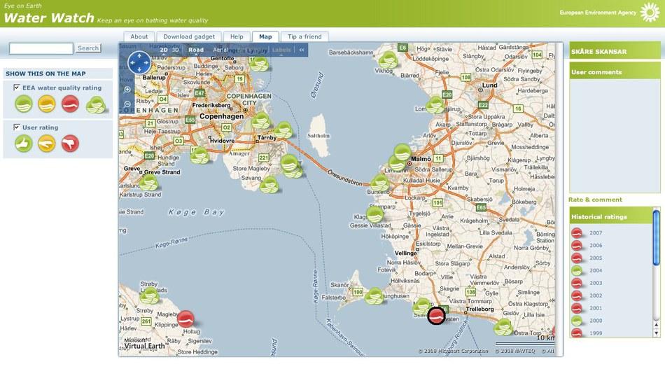 Eye on Earth interactive map