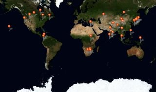 Map of sustainable development initiatives