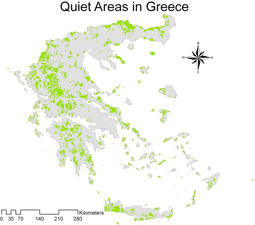 Quiet areas in Greece