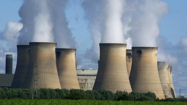Coal-burning power station