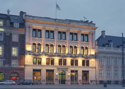 European Environment Agency building at night
