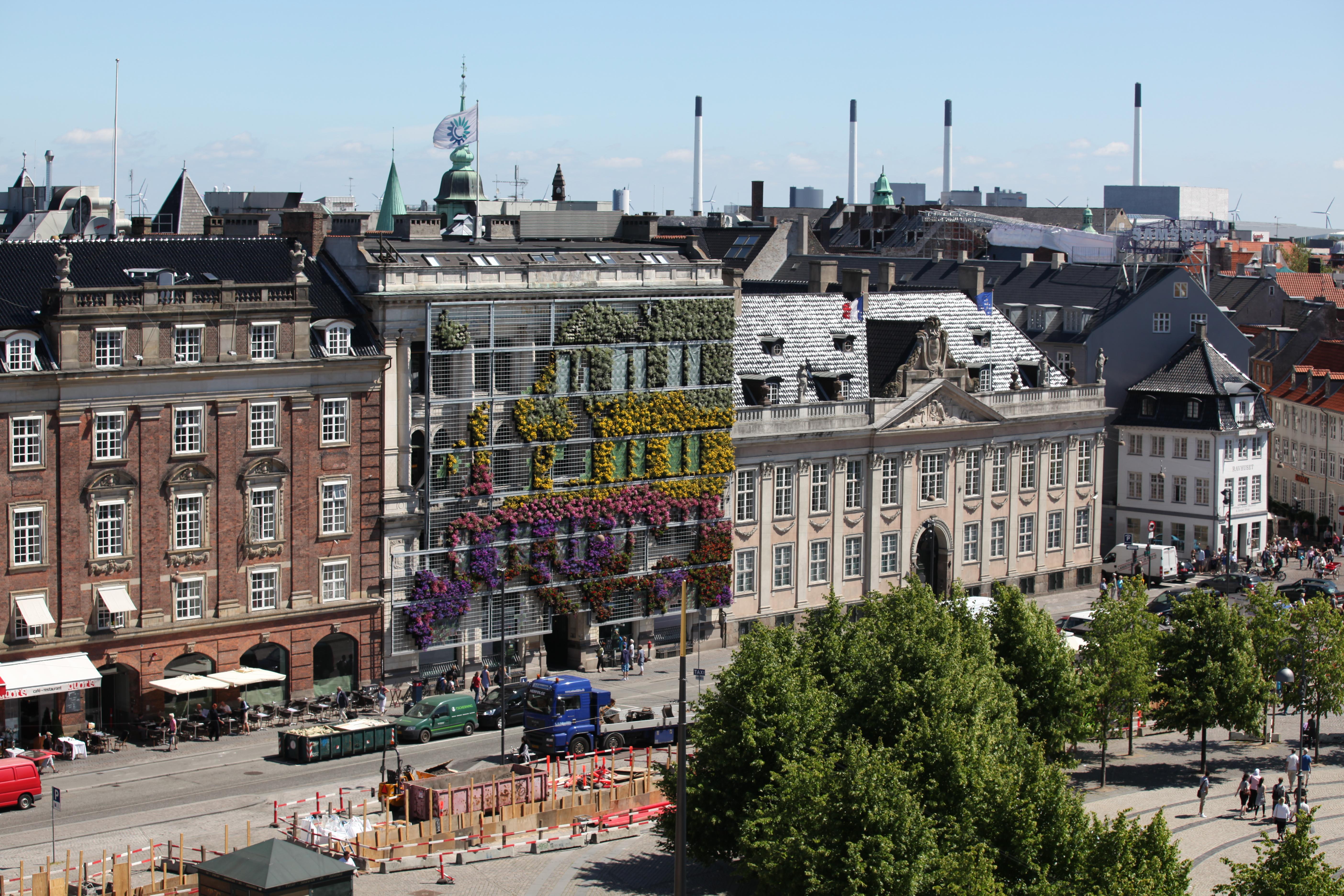 Living facade at the European Environment Agency