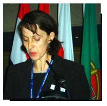 Prof. Jacqueline McGlade speaking at Bridging the Gap