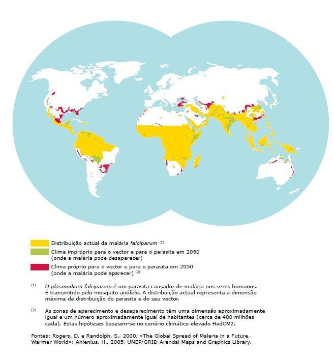 Saúde, malária em 2050