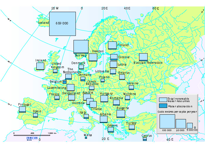 Resources Map Of Europe.Map Water Resources In Europe European Environment Agency