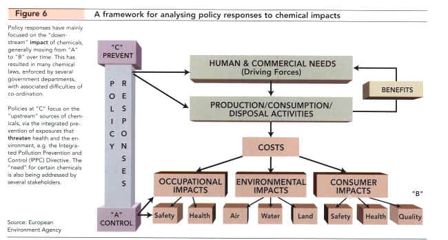 A framework for analysing policy responses to chemical impact