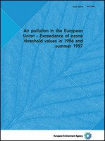Air pollution in the European Union - Exceedance of ozone threshold values in 1996 and summer 1997