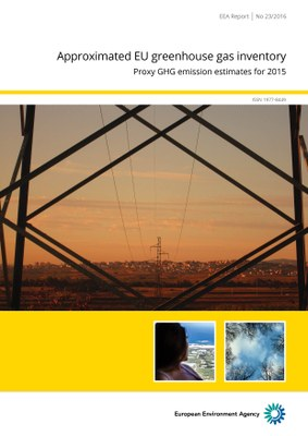 Approximated EU GHG inventory: proxy GHG estimates for 2015 - Cover