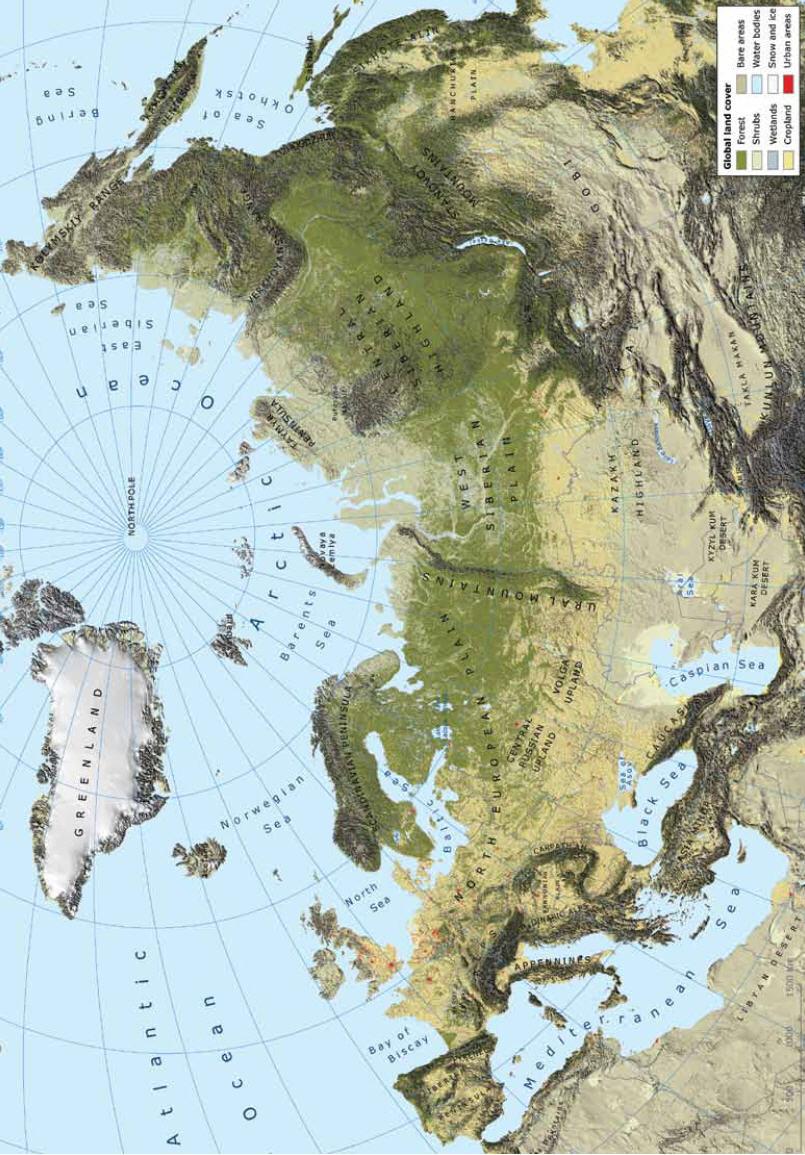 Pan-European area, land cover