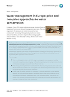 Water management in Europe: price and non-price approaches to water conservation