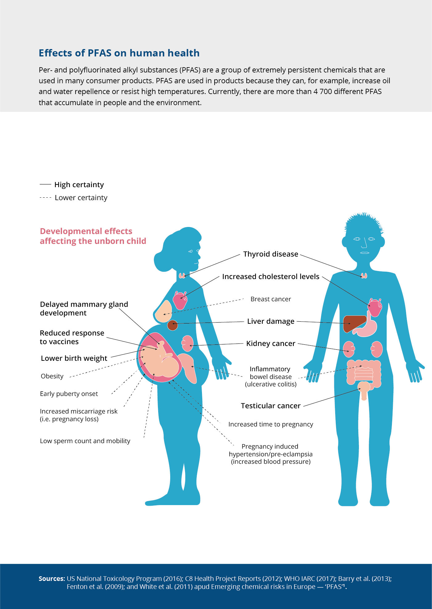 Effects of PFAS on human health