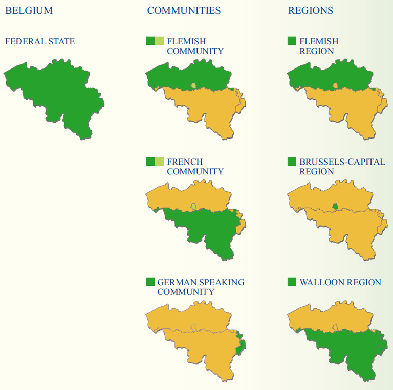 figure 1 the regions and communities of belgium european environment agency