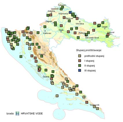 Figure 6 Spatial distribution of urban wastewater treatment plants, 2008