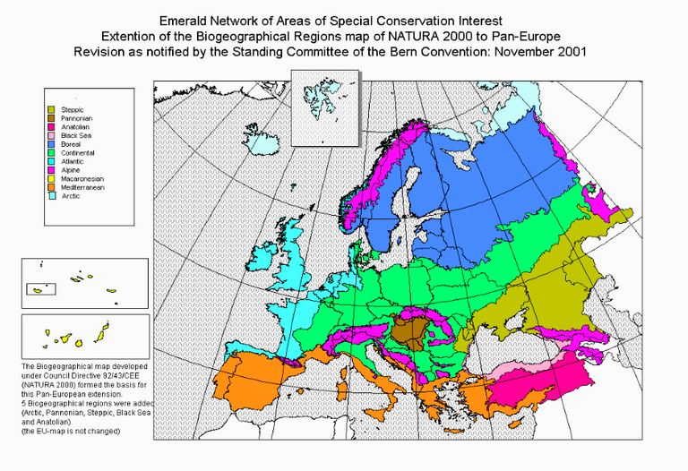 HUFigure 2: Biogeographical Regions in Europe,  Standing Committee of the Bern Convention